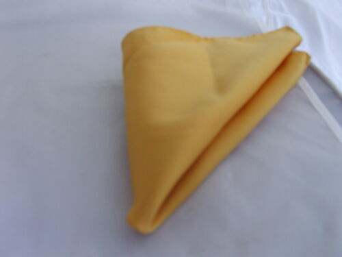 Yellow Pre-tied OR Self-tie Bow tie and Hankie Set /> P/&P 2UK />1st Class Superb