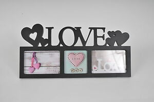 Multi-Photo-Love-Wall-Photo-Frame-Girlfriend-Birthday-18th-21st-White-Black