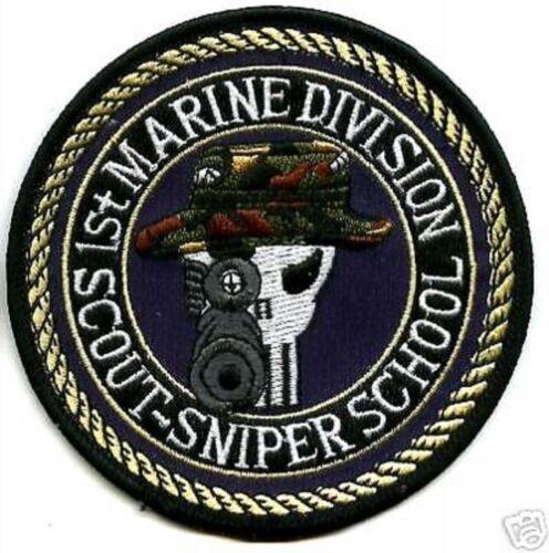 1ST MARINE DIVISION SCOUT SNIPER SCHOOL SKULL USMC SP OPS JUMPSUIT PATCH SERIES