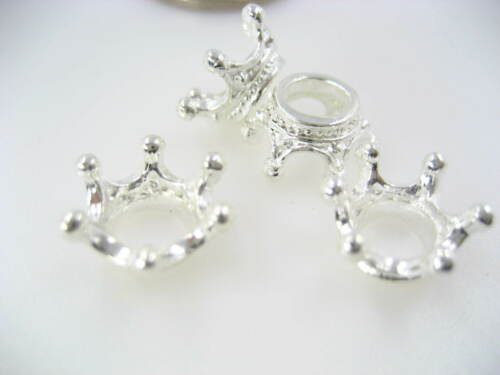 Silver king crown charms key ring zip charms pendants DIY craft bag charms