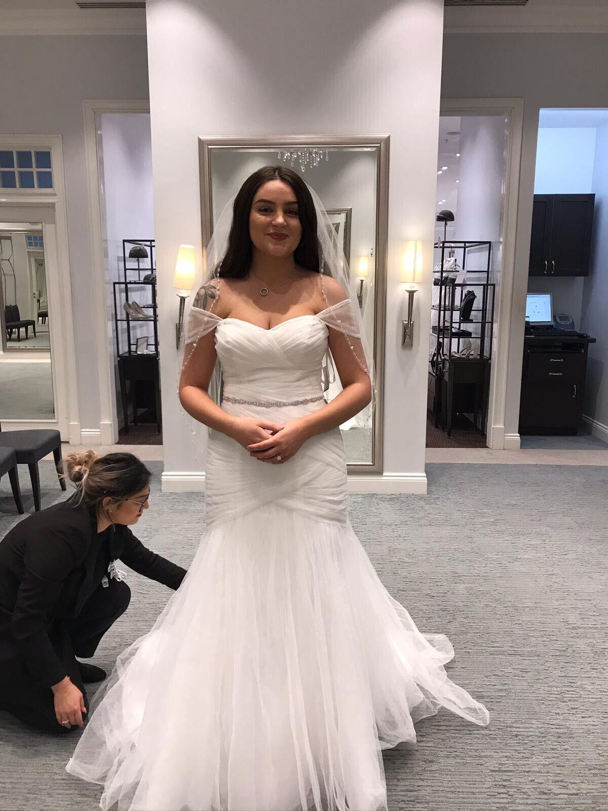 davids bridal strapless corset wedding dress