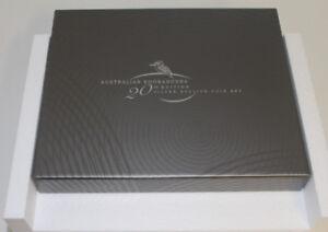 selten-ORIGINAL-Muenz-Box-Kassette-20-Jahre-Kookaburra-Jubilaeums-Silber-Set-CoA