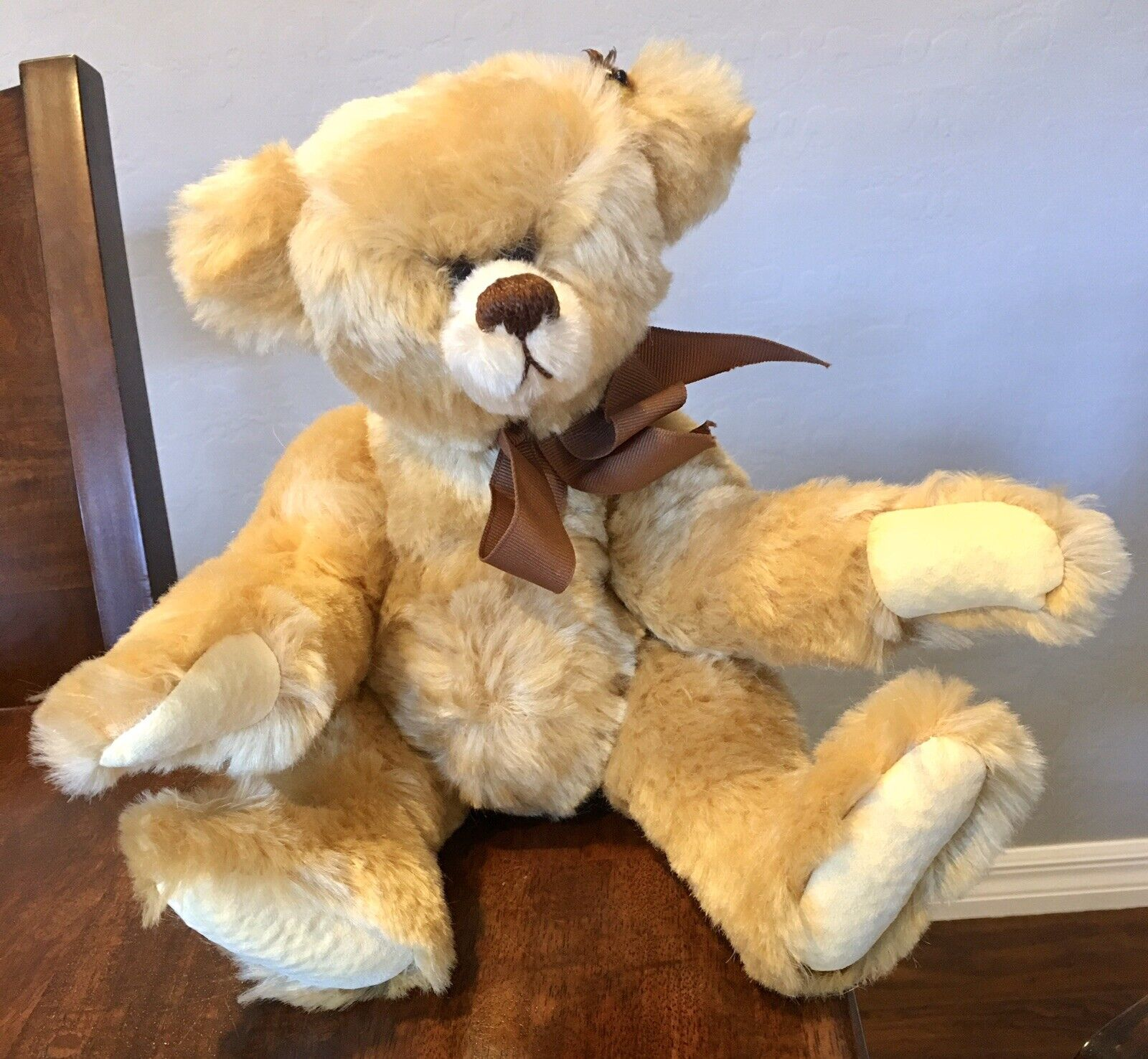 Artist Joan Woessner 1989 Mink Lashes Mohair Bear Marmalade SIGNED   145