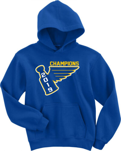 Louis Blues Stanley Cup 2019 Champions Champs HOODED SWEATSHIRT St