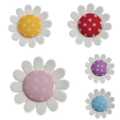 5 or 10 63mm Red Daisy Shaped Clown Button 4 Hole in Packs of 1