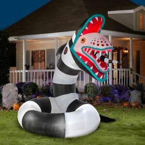 Details About Animated Beetlejuice Sand Worm Lighted Yard Inflatable