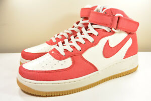 Details about DS NIKE 2016 AIR FORCE 1 MID RETRO RED DENIM 12 VINTAGE  SUPREME WHEAT HYPERFUSE