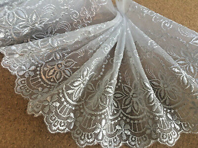 """3 METRES Premium Navy Blue Embroidered Tulle Lace Trim 5/""""//13cm TOP SELLER"""