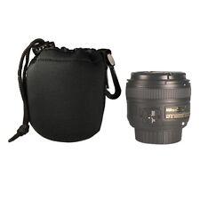 DSLR camera Drawstring Neoprene Lens Pouch Bag Small size - USA SELLER