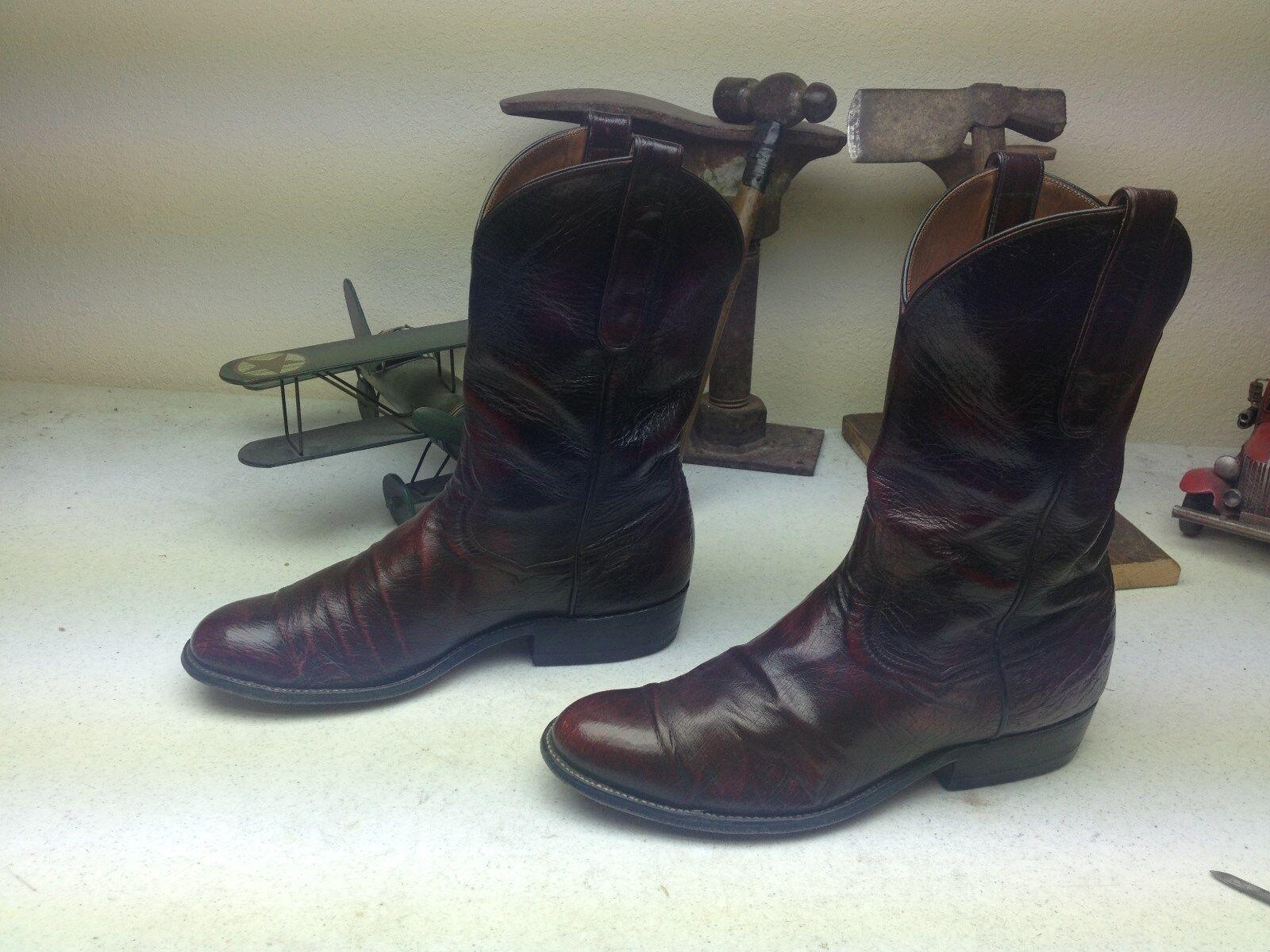 John Wesley Hardin envejecido Avestruz Cuero Ingeniero Trail Boss botas 9-9,5 m