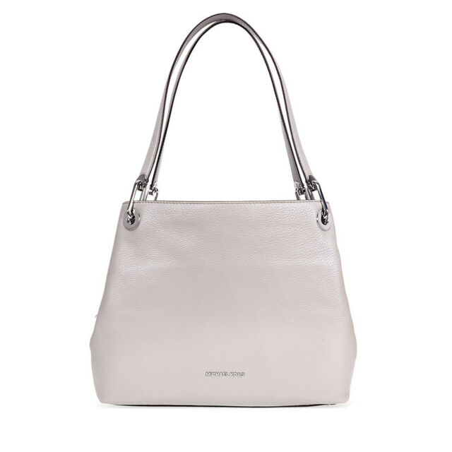 5722847849a Michael Kors Raven Large Pebbled Leather Shoulder Bag- Pearl Grey  30H6SRXE3L-081