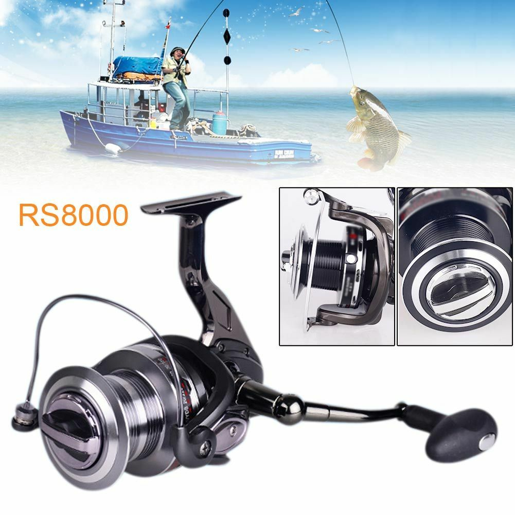 12+1BB Saltwater Freshwater Long Round  shot Fishing Spinning Reel All Metal  choices with low price