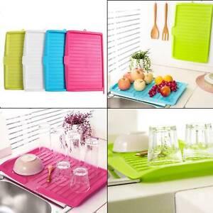 Drainer-Drip-Tray-Bowl-Sink-Draining-Board-Kitchen-Utensil-Cutlery-Holder-Feet
