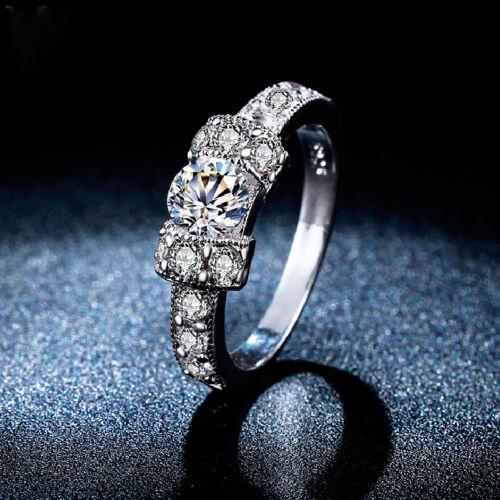 Silberfarbener anillo amor mucho pedrería pedrería grande señora anillo Anillo de mujer