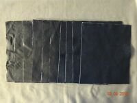 Scrap Leather Genuine Cowhide Navy Blue 10x12 Inches 10 Pieces
