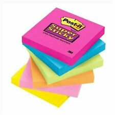 100 Sheets Post It Notes 75mm Sticky Pop Up Office Cute Tabs Neon Pink Square
