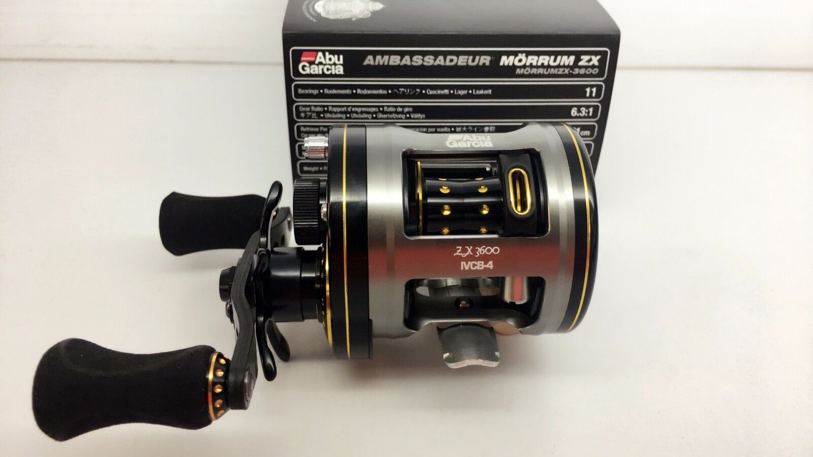 ABU GARCIA Morrum ZX 3600 Right Baitcast Reel FedEx Express 2days to US