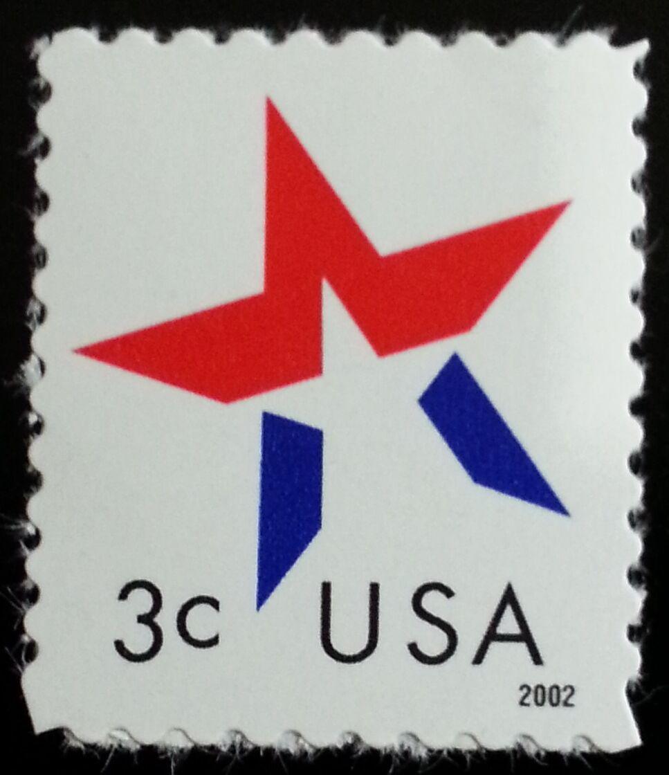 2002 3c American Designs, Star Make-Up Issue Scott 3614