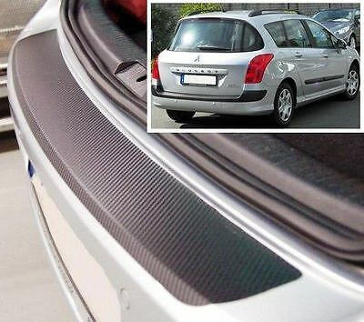 Peugeot 308 SW - Carbon Style rear Bumper Protector