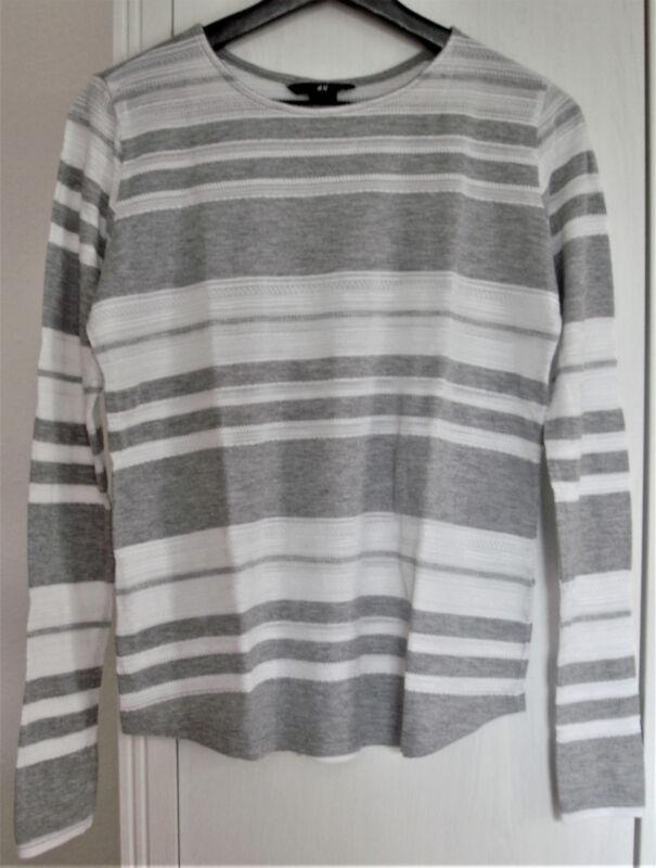 * * Toller Leichtes Shirt/pulli * Gr. S * Grau/weiss * Super Design * Top * * Angemessener Preis