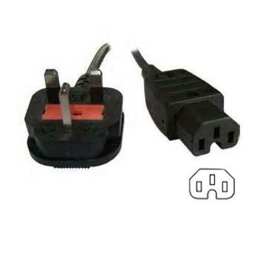 Bluecharge Direct 2m IEC UK 3 Pin Mains Plug to IEC C15 Hot Condition Power Kettle Lead