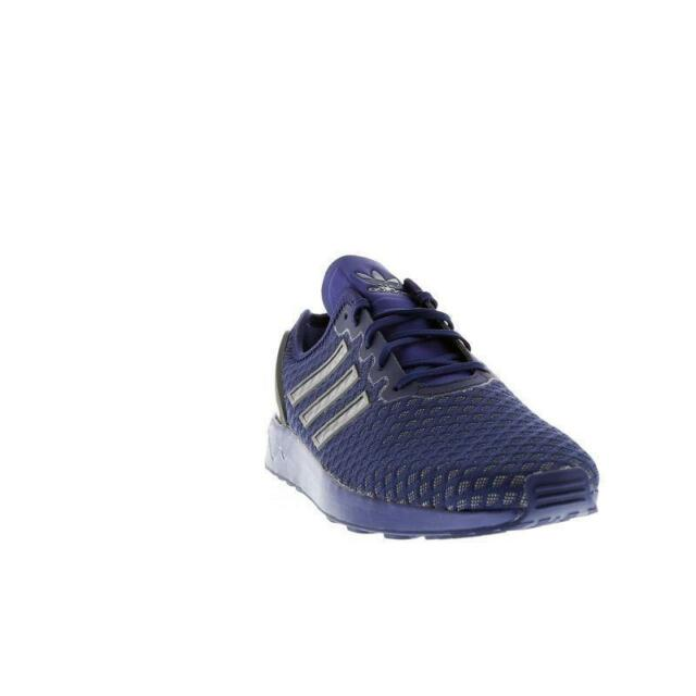 Mens ADIDAS ZX FLUX ADV Dark Blue Textile Synthetic Trainers AQ6752