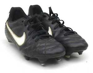 Nike-Garcons-Taille-UK-3-Noir-Tiempo-chaussures-de-football