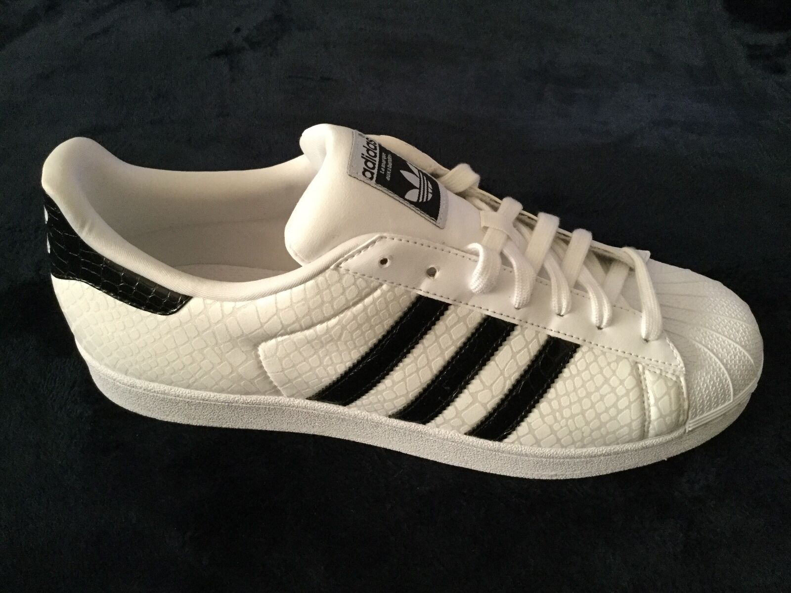 New Fashion Adidas Originals Superstar Men's Fashion New Sneakers Shoes Snake White 11.5 a05784