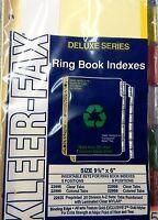Kleer-fax 5 Color Tab Index Divider 9 1/2 X 6 22995