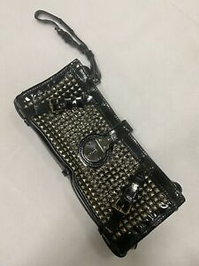 Burberry Studded Hyde Clutch Authentic