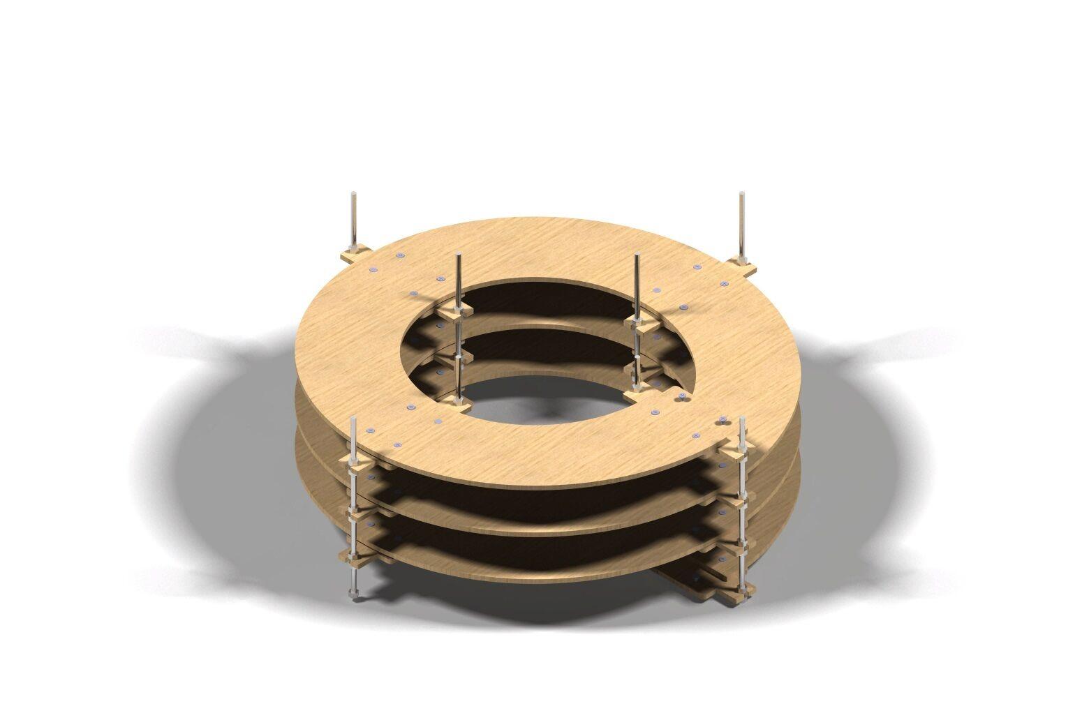 Binario Wendel Spur N, Traccia Z doppio binario, 3 giri CNC realizzato