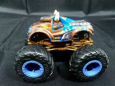 Hot Wheels Monster Jam Steer Clear 1 64 Monster Truck Blue Camo Ebay