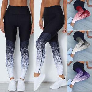 Damen Leggings Leggins Sport Hose Fitness Stretch Slim Yoga Jogginghose Laufhose
