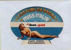 Vendita Costumi Da Bagno Vintage : Adesivo sticker vintage i costumi da bagno di miss italia linea