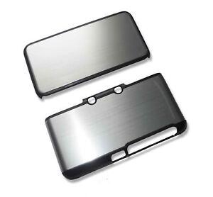 Nintendo-2DS-XL-2DSXL-Silver-Aluminium-Metal-Case-Cover-Shell-Housing-UK