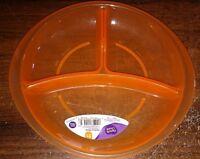 Parent's Choice Orange Toddler Section Plate Bpa-free Microwave Dishwasher Safe