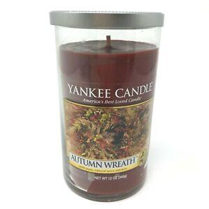 Medium-Scented-Yankee-Candle-Autumn-Wreath-12-oz-Tumbler-Jar-NEW