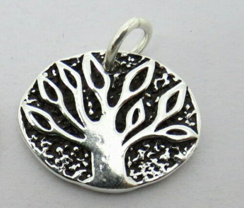 01 Pieces Silver Pendant Tree of Life Charm Dangle  20mm Add A Dangle Pendant