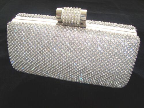 Diamante argento diamante frizione di sera della del della borsa del sacchetto partito nuziale Promenade del di cristallo di Bling TgSqaW