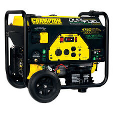Dual Fuel Generator Portable Propane Gas Power Camping Work Site Home Equipment