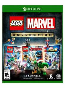 LEGO-Marvel-Collection-Super-Heroes-1-amp-2-Avenger-Xbox-One-Brand-New-Sealed