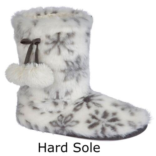 Fleece Warm On Foderato Slip Womens in Stivaletti New Pantofole pelliccia Booties FxCwfqIRt