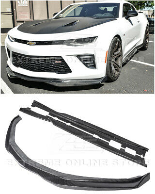 For 19-Up Camaro SSEOS T6 CARBON FIBER Front Bumper Lower Splitter Lip Wing