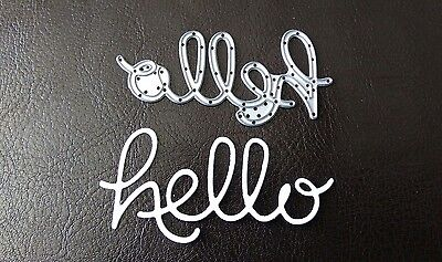 Sizzix Die Cutter /& Embosser SMALL HELLO PLAQUE Thinlits fits Big Shot Cuttlebug