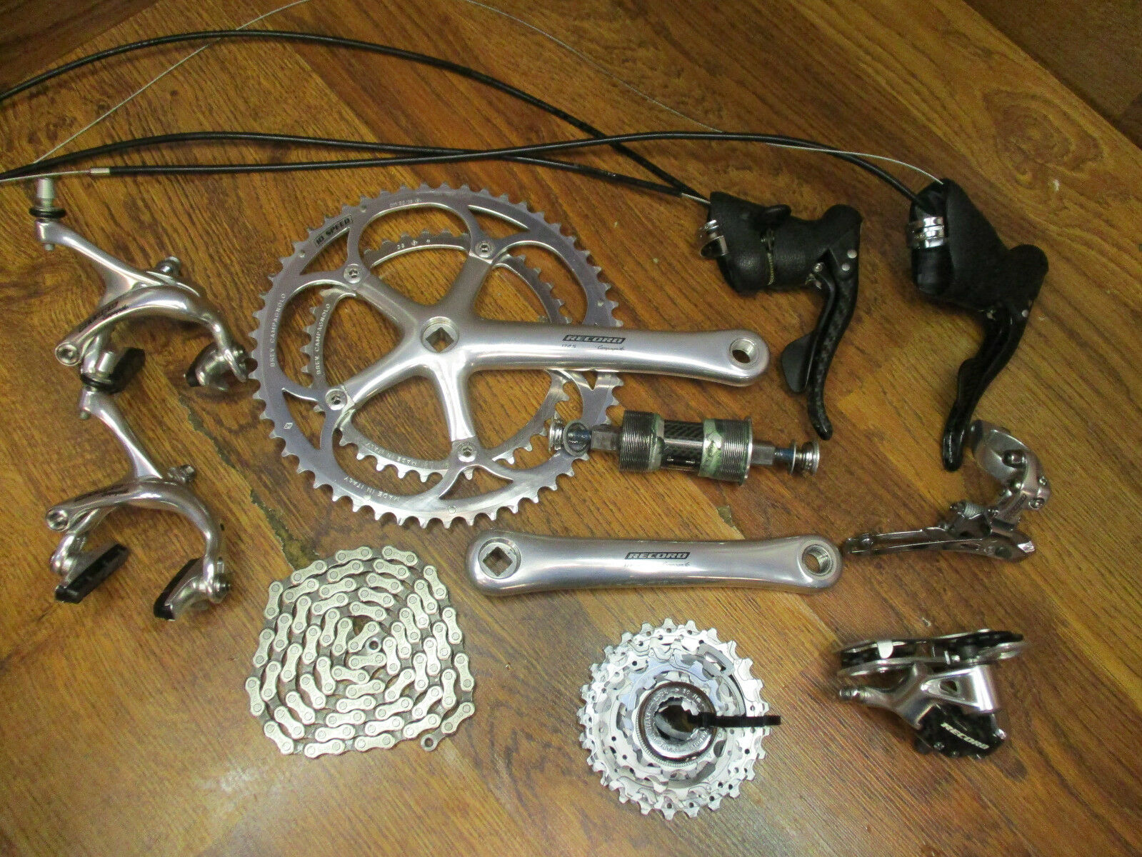 CAMPAGNOLO RECORD BB-SYSTEM CARBON 10 SPEED COMPLETE GROUP BUILD KIT GRUPPO