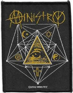 Official-Licensed-Merch-Woven-Sew-on-PATCH-Metal-Rock-MINISTRY-All-Seeing-Eye