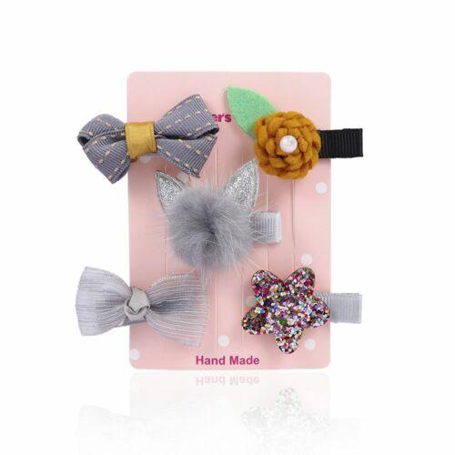 5Pcs Toddler Star Bow Hair Mini Cute Clip Baby Girl Barrettes Hairpins Clips