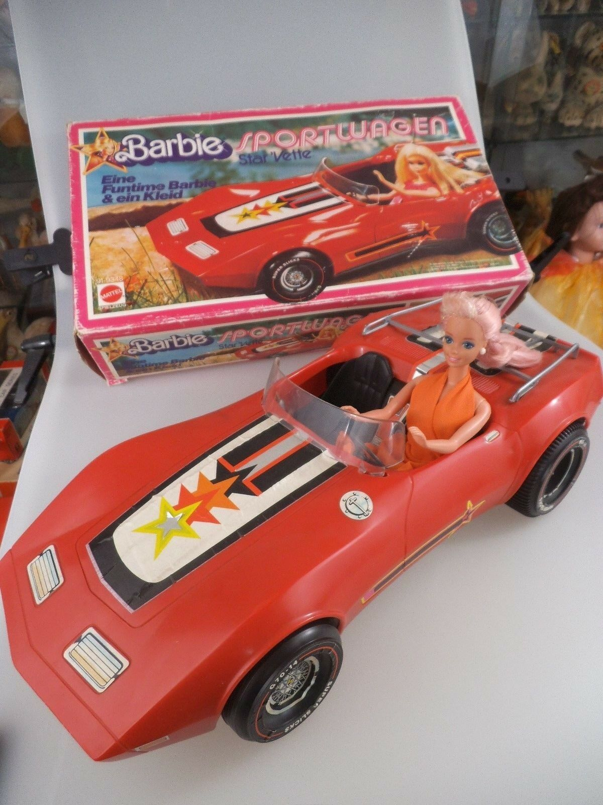 BARBIE Auto Sportiva Star 'vette in scatola originale del 1978  2293