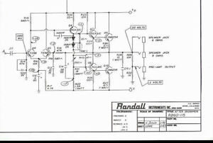 Randall Instruments RB-60-115 Bass Guitar Amplifier Original Schematic  Diagram | eBay | Bass Guitar Amp Schematics |  | eBay