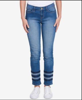 TOMMY HILFIGER NEW Women/'s Blue Plus Size Greenwich Straight Leg Jeans TEDO